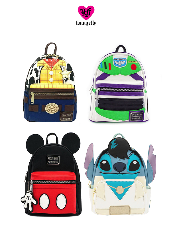 Loungefly Disney Mickey/ Woody/ Buzz Lighyear/ Elvis Stitch Backpack Zaino
