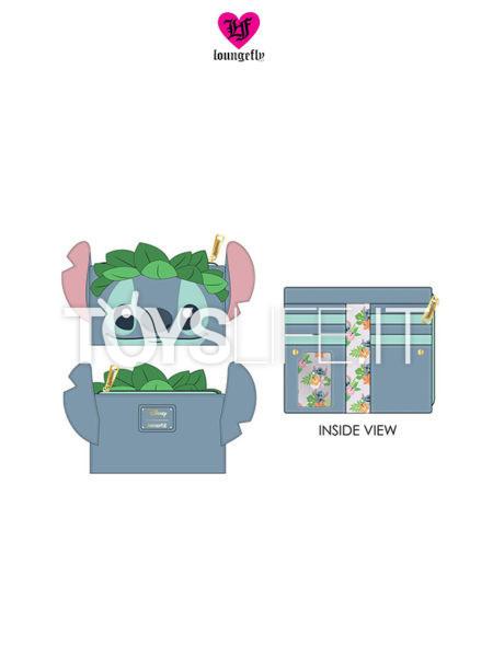Loungefly Disney Lilo & Stitch Stitch Luau Flap Purse Portafoglio