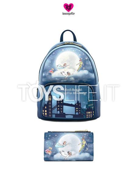 Loungefly Disney Peter Pan Backpack Zaino/ Wallet Portafoglio Second Star Glow