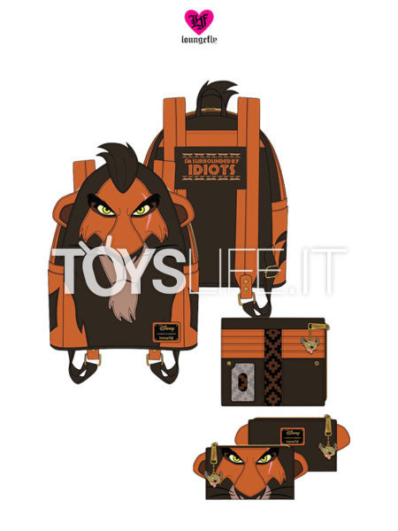 Loungefly The Lion King Scar Backpack Zaino/ Wallet Portafoglio