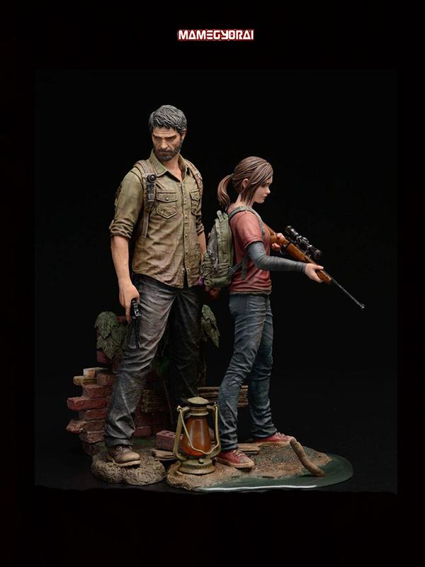 Mamegyorai The Last of Us Joel & Ellie 1:9 Pvc Statue