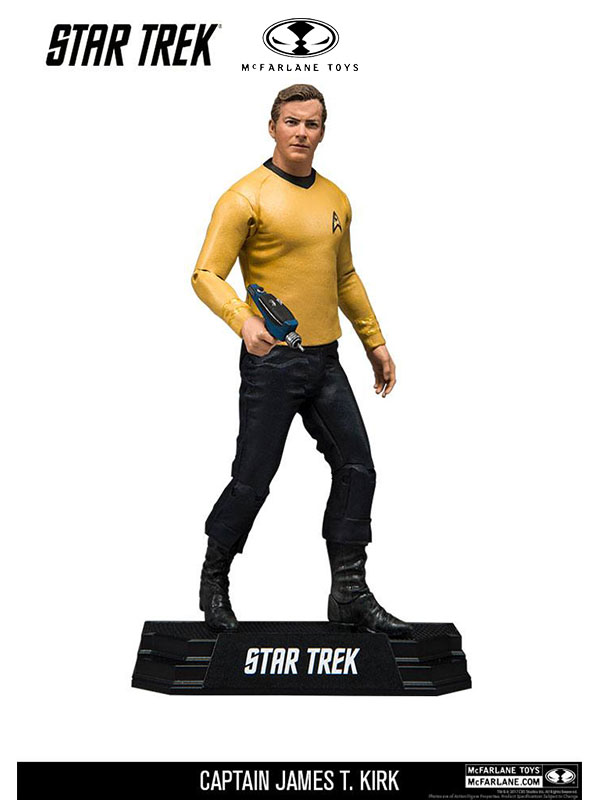 McFarlane Toys Star Trek Captain James T. Kirk Color Tops Figure