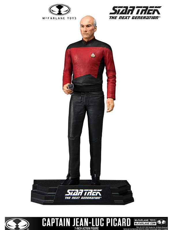 McFarlane Toys Star Trek Captain Jean-Luc Picard Color Tops Figure