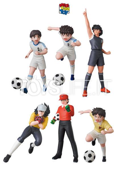 Medicom Toys Captain Tsubasa Ozora Tsubasa/ Wakabayashi Genzo/ Misaki Taro/ Wakashimazu Ken/ Hyuga Kojiro/ Hikaru Matsuyama Mini Pvc Figure
