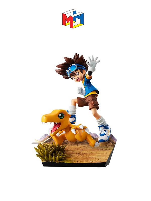 Megahouse Digimon Adventure G.E.M. Taichi Yagami & Agumon 20th Anniversary Pvc Statue