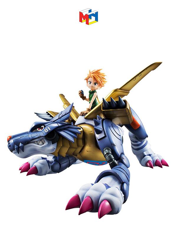 Megahouse Digimon Adventure Metal Garurumon & Ishida Yamato G.E.M. Pvc Statue