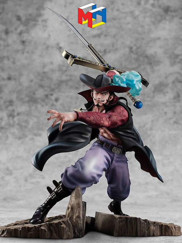 Megahouse One Piece Excellent Maximum Hawk-Eye Dracule Mihawk Pvc Statue