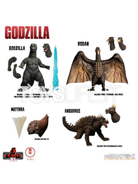 Mezco Toyz Godzilla 1968 Godzilla Destroy All Monsters 5 Points DX Box Set