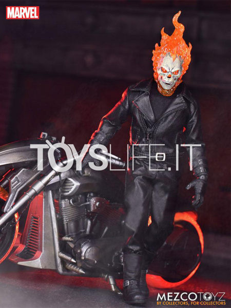 Mezco Toyz Marvel Ghostrider & Hell Cycle Vehicle 1:12 Figure Set