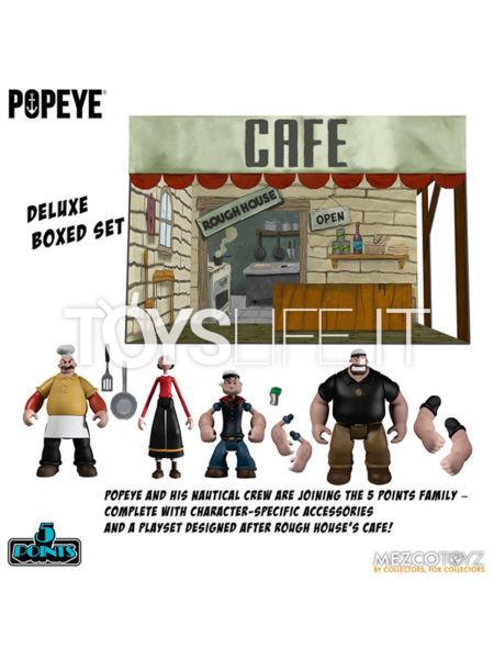 Mezco Toyz Popeye 5 Points Figures Deluxe Box Set