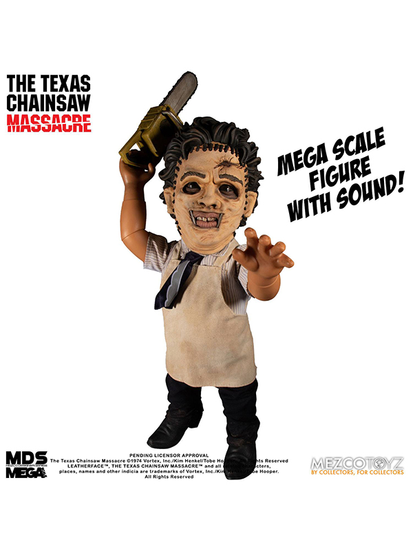 Mezco Toyz Texas Chainsaw Massacre Mega Talking Scale Leatherface