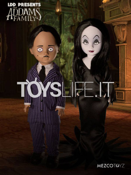 Mezco Toyz The Addams Family Gomez & Morticia Living Dead Dolls Set