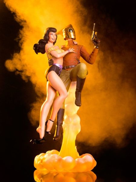 Mondo The Rocketeer Rocketeer And Betty Statue