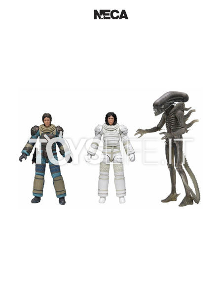 Neca Alien 40th Anniversary Ripley Compressione Suit/ Lambert Compression Suit / Giger's Alien Figure Set