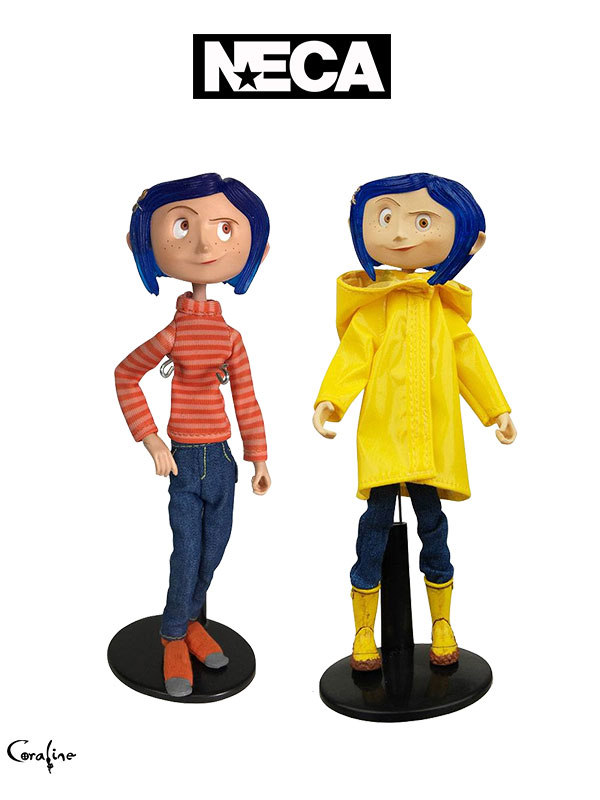 Neca Coraline Striped Shirt And Jeans/ Raincoat Figure