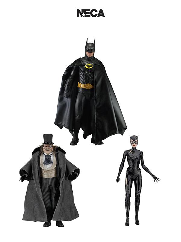 Neca Batman 1989/Batman Returns Batman 1989/Penguin/CAtwoman 1:4 Figure
