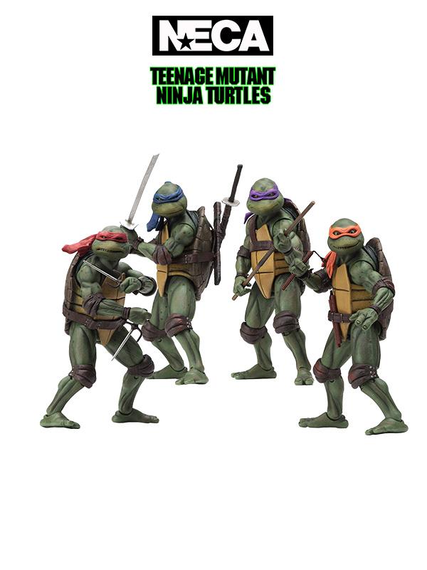 Neca TMNT 1990 Movie Leonardo/Michelangelo/Raphael/Donatello 18 Cm Figure