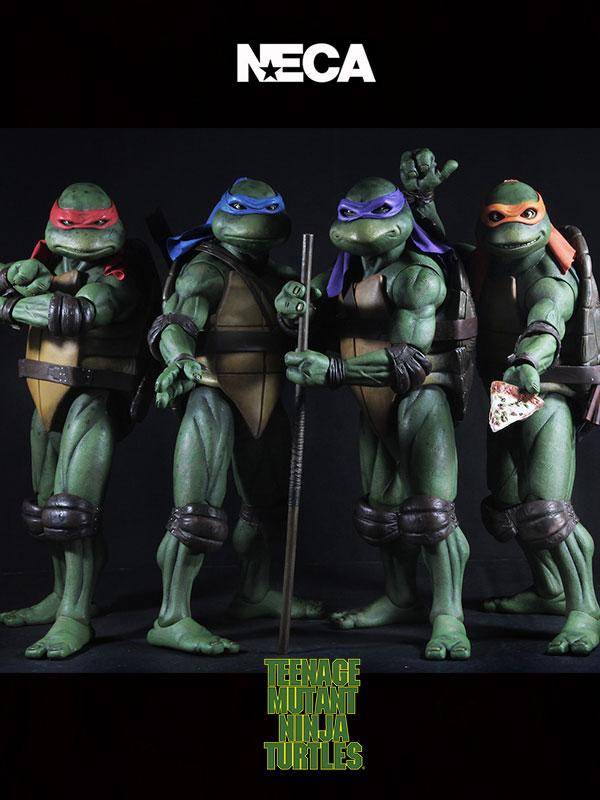 Neca Teenage Mutant Ninja Turtles 1990 Turtles 1:4 Figures Set