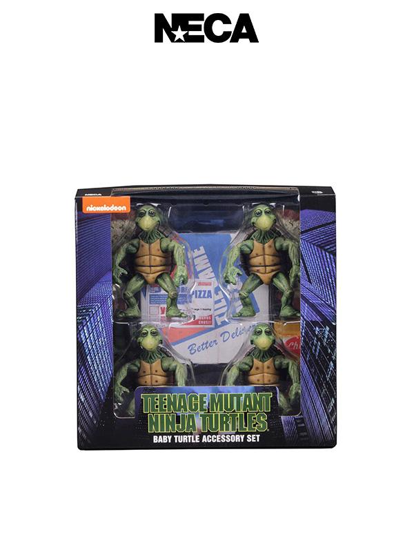 Neca TMNT 1990 Baby Turtles 1:4 4-Pack Figures Set