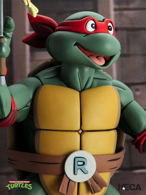 Neca Teenage Mutant Ninja Turtles 1987 Cartoon Raphael 1:4 Figure
