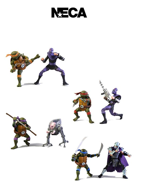 Neca TMNT Classic 2-Pack Michelangelo/Leonardo/Raphael/Donatello Set