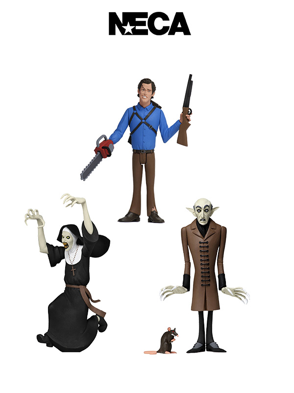 Neca Toony Terrors Serie 3 Ash Williams/ The Nun/ Nosferatu Set