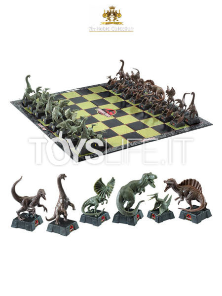 Noble Collection Jurassic Park Dinosaurs Chess Set