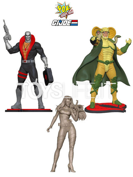 Pop Culture Shock G.I. Joe Serpentor/ Destro/ Baroness 1:8 Pvc Statue
