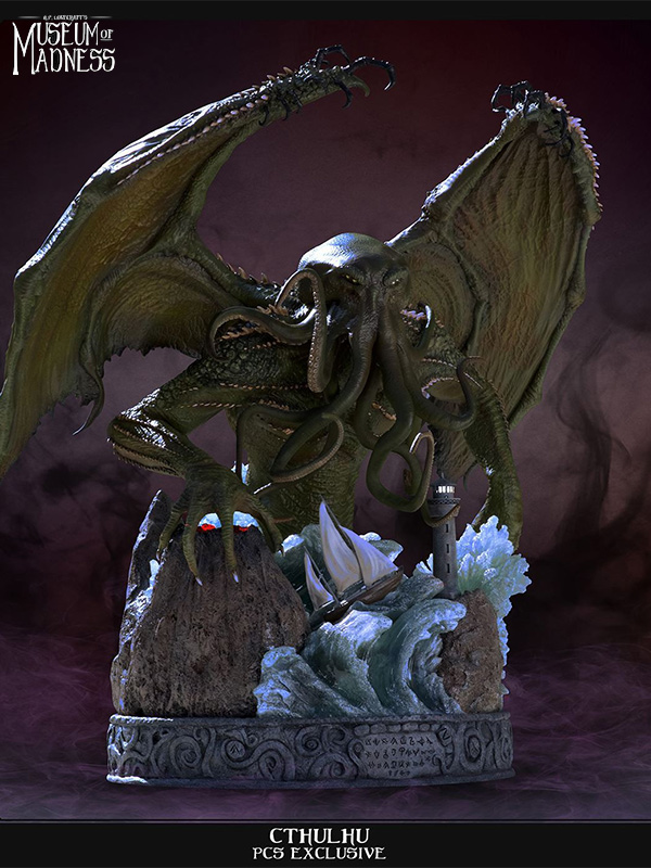 Pop Culture Shock H.P. Lovecraft's Museum of Madness Cthulhu Statue Exclusive Version