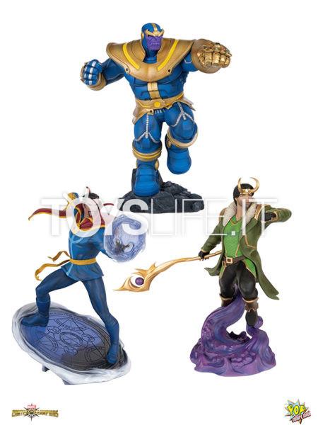 Pop Culture Shock Marvel Contest Of Champions Dr. Strange/ Thanos/ Loki 1:10 Pvc Statue
