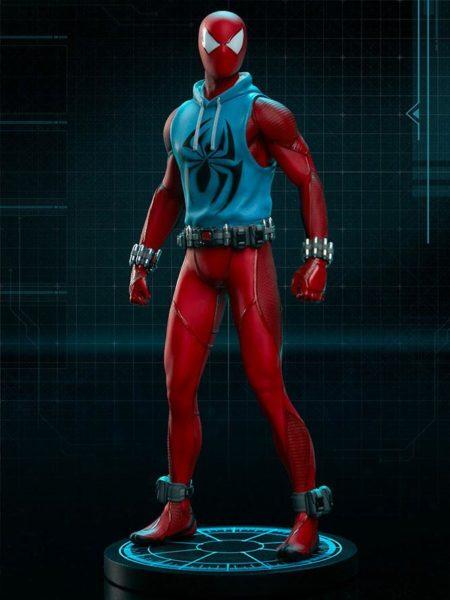 Pop Culture Shock Marvel's Spiderman Scarlet Spider 1:10 Statue