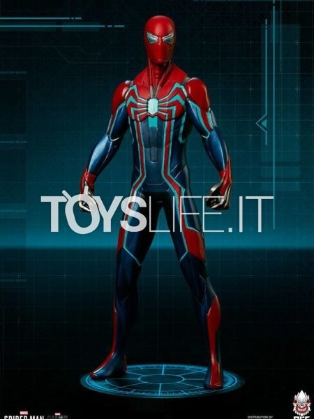 Pop Culture Shock Marvel's Spiderman Spiderman Velocity Suit 1:10 Statue