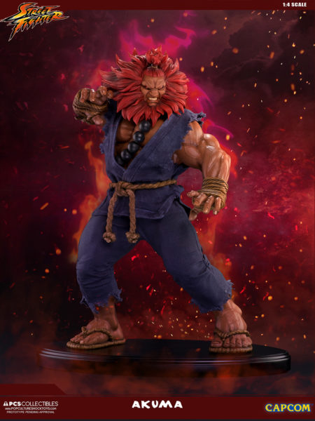 Pop Culture Shock Street Fighter Akuma 10Th Anniversary 1:4 Statue