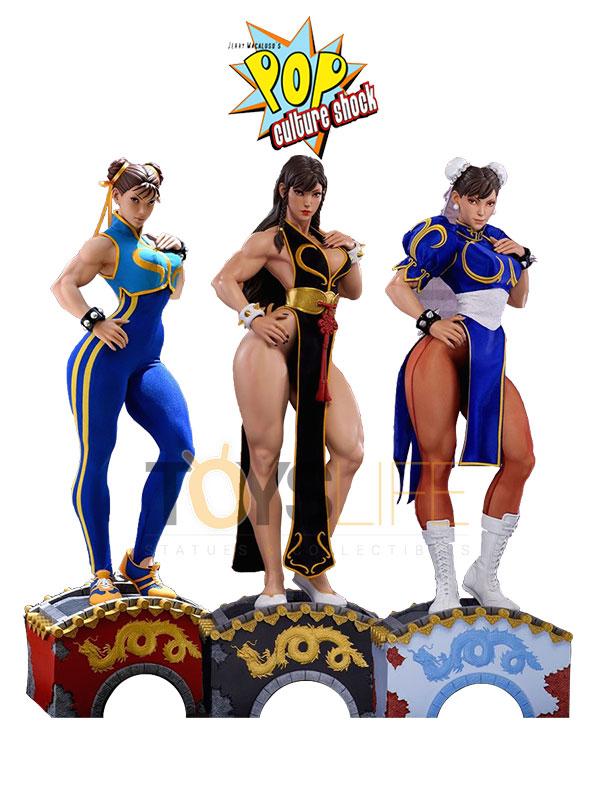 Pop Culture Shock Street Fighter Chun Li 1:3 Statue Alpha/Battle Dress/Classic
