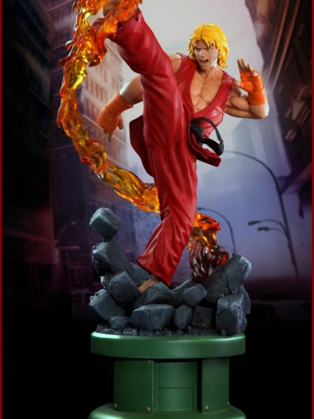 Pop Culture Shock Street Fighter IV Ken Dragon Flame 1:4 Statue