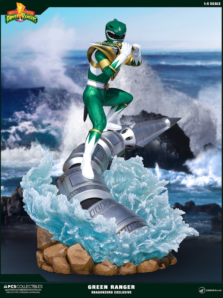 Pop Culture Shock Power Rangers Green Ranger Dragonzord Exclusive 1:4 Statue