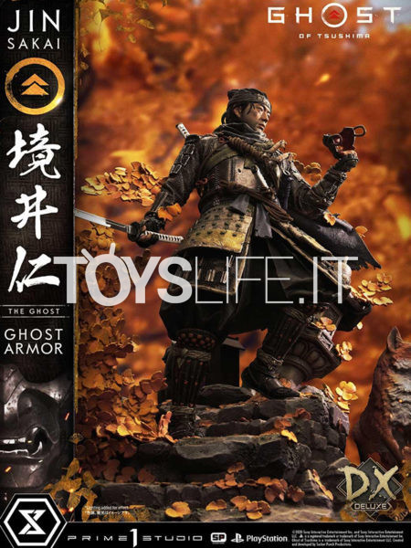 Prime 1 Studio Ghost of Tsushima  Jin Sakai The Ghost Armor 1:4 Deluxe Bonus Version Statue