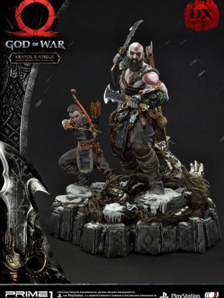 Prime 1 Studios God of War  Kratos & Atreus Ivaldi's Deadly Mist Armor Deluxe 1:4 Statue