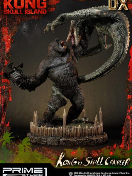 Prime 1 Studio Kong Skull Island Kong vs Skull Crawler Deluxe Exclusive Statue