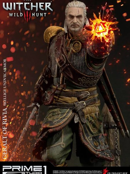 Prime 1 Studio Witcher 3 Wild Hunt Geralt of Rivia Skellige Undvik Armor 1:4 Statue