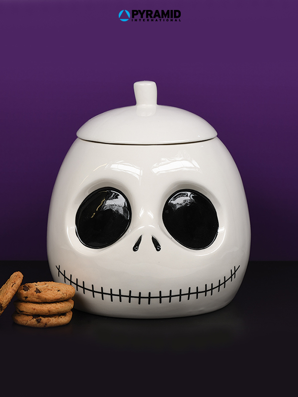 Pyramid International Nightmare Before Christmas Jack Skellington Cookie Jar Biscottiera