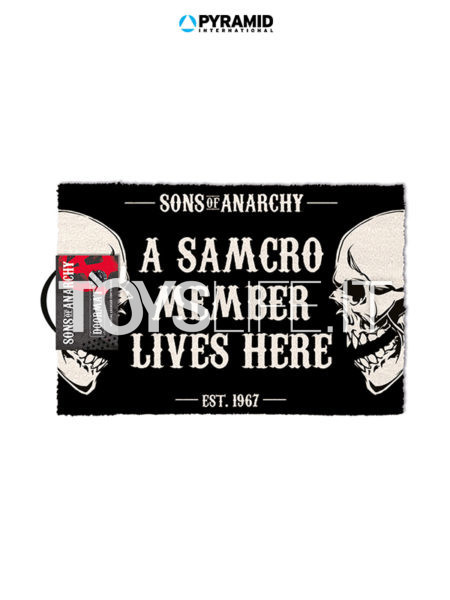 Pyramid International Sons Of Anarchy A Samcro Member Lives Here Doormat Tappeto