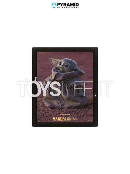 Pyramid international Star Wars The Mandalorian Grogu 3D Framed Poster