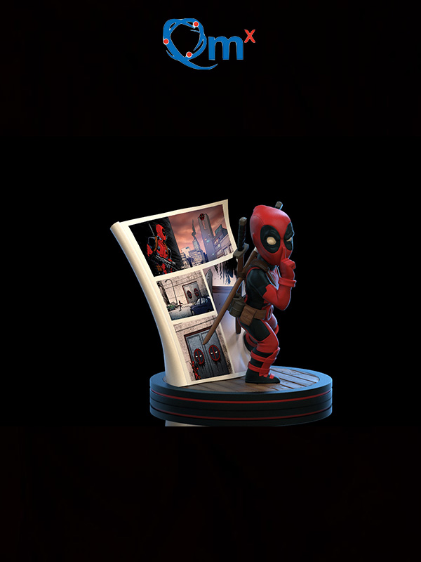 Quantum Mechanics Marvel Deadpool Q-Fig 4D Diorama