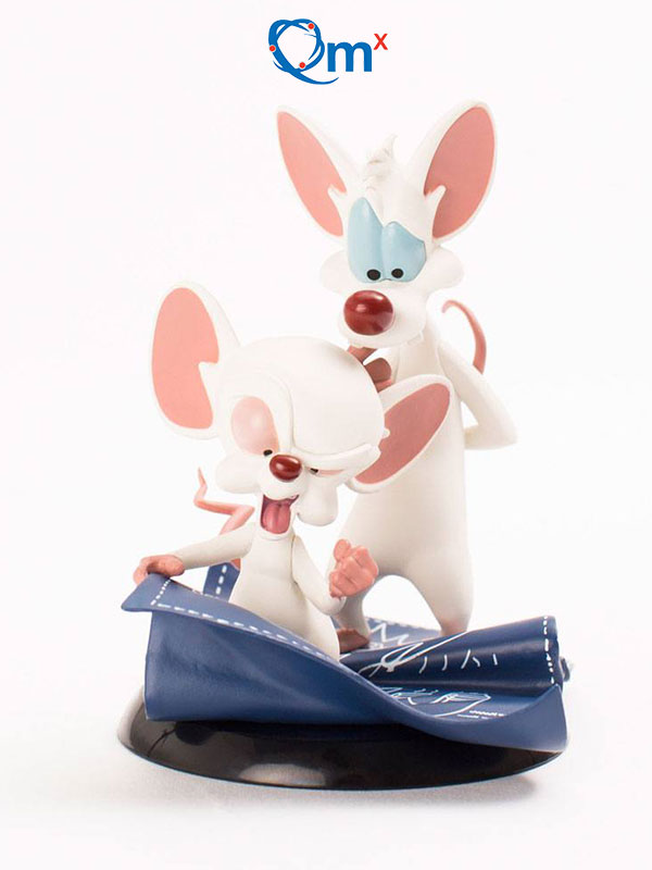Quantum Mechanics Pinky And The Brain Mignolo & Prof Taking Over The World Q-Fig figure