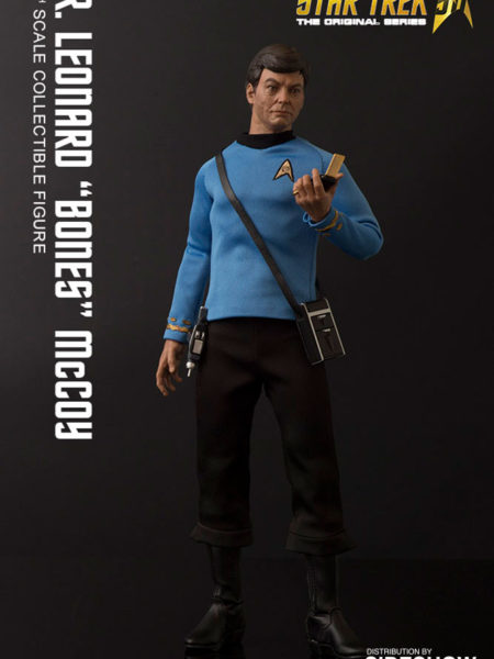 Quantum Mechanix Star Trek TOS 50th Anniversary Dr. Leonard Bones McCoy 1:6 Figure