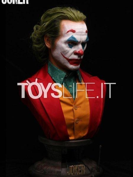 Queen Studios Joker 2019 Arthur Fleck Joker Joaquin Phoenix 1:1 Lifesize Bust