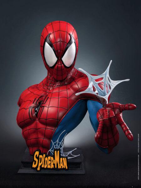 Queen Studios Marvel Comics Spiderman Classic Reb/Blue 1:1 Bust