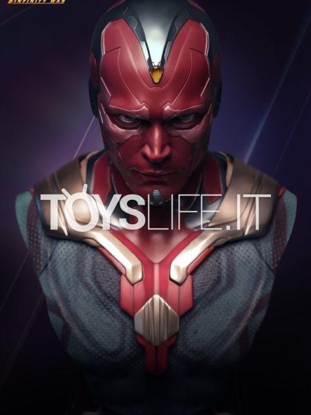 Queen Studios Marvel Avengers Infinity War Vision 1:1 Lifesize Bust