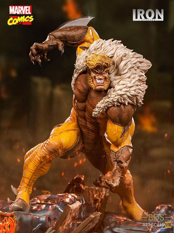 Iron Studios Marvel Comics X-Men Sabretooth 1:10 Statue